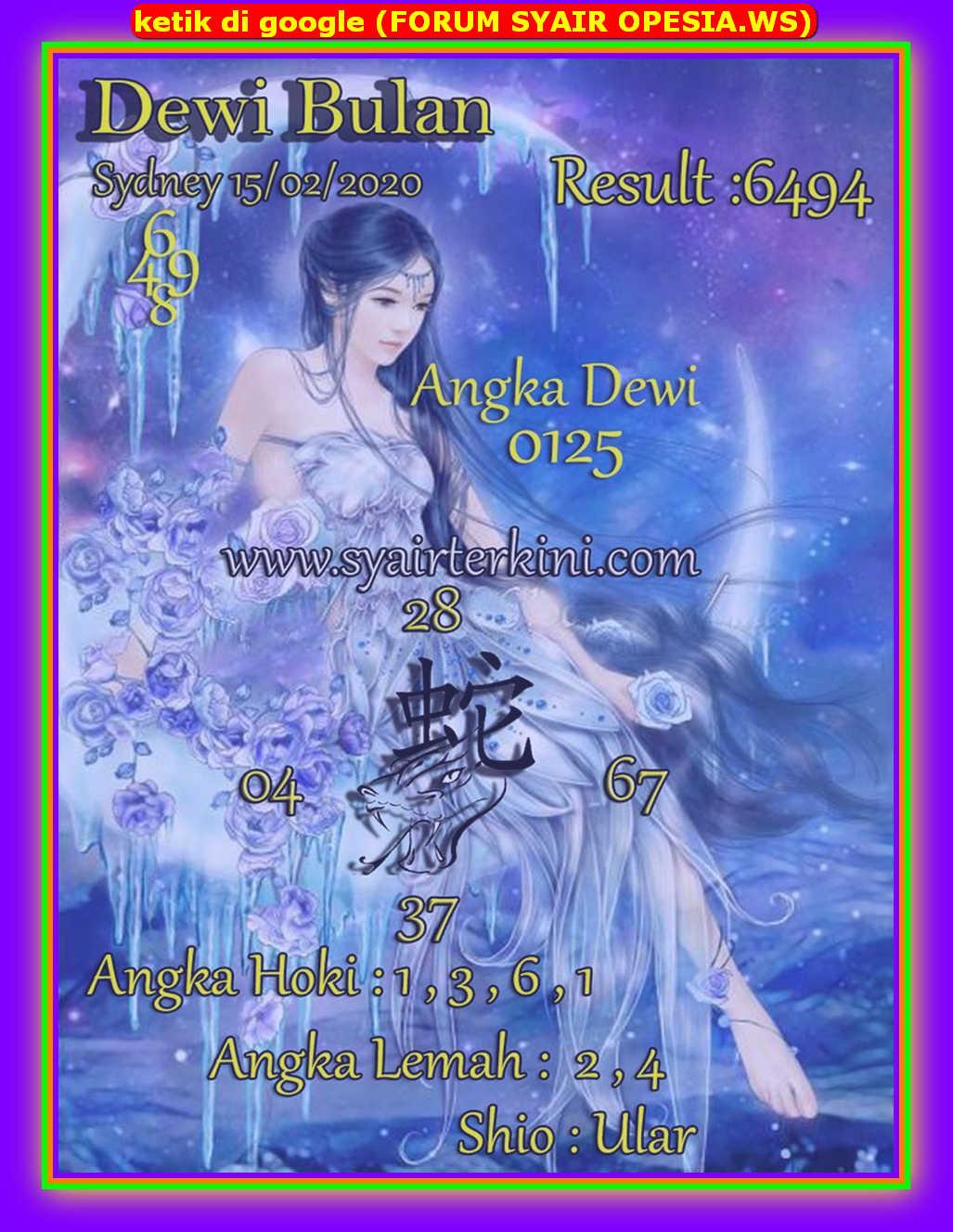 Kode syair Sydney Sabtu 15 Februari 2020 145