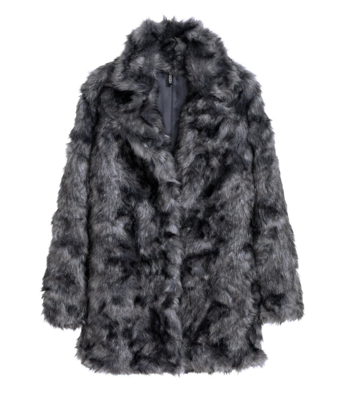 Buy H&M Faux Fur Coat