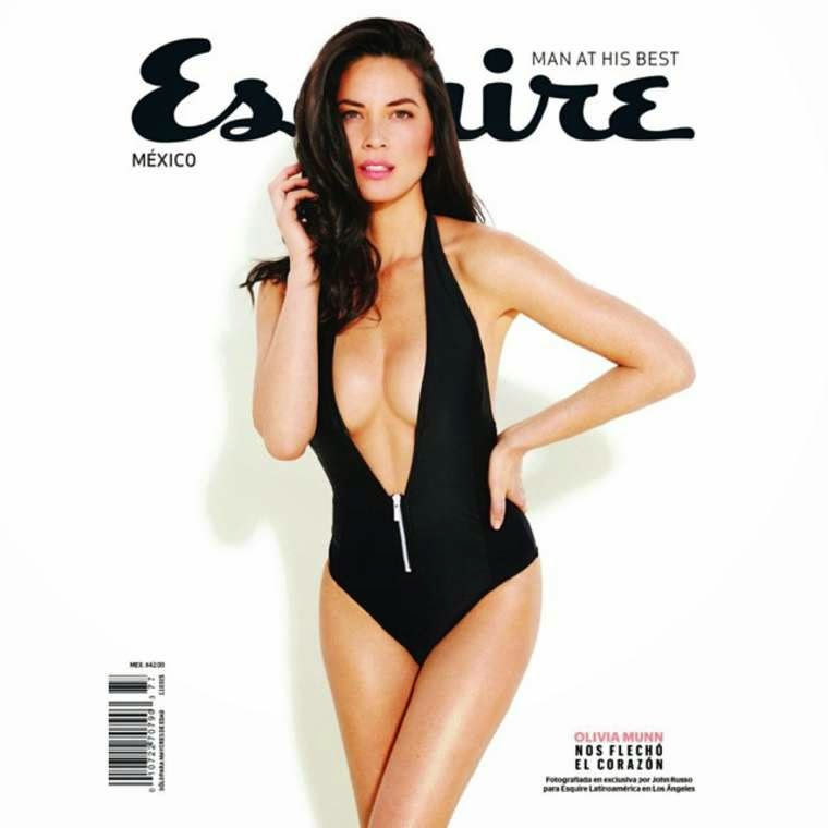 Olivia Munn wears low cut swim looks for Esquire Mexico February 2015