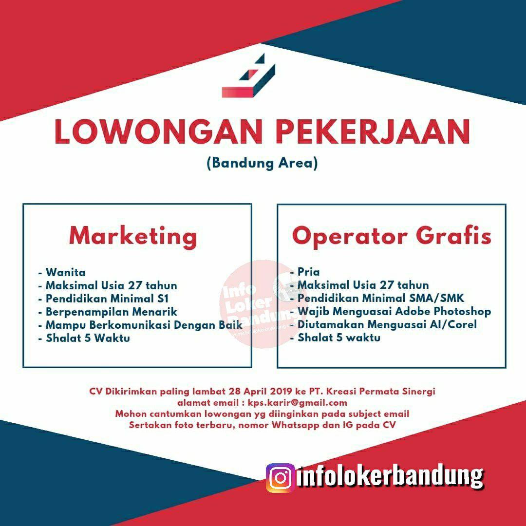 Lowongan Kerja PT. Kreasi Permata Sinergi Bandung April 2019