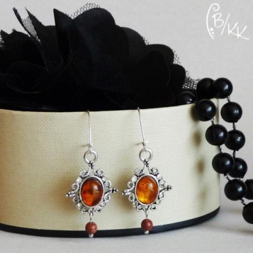 kolczyki z bursztynem | amber earrings
