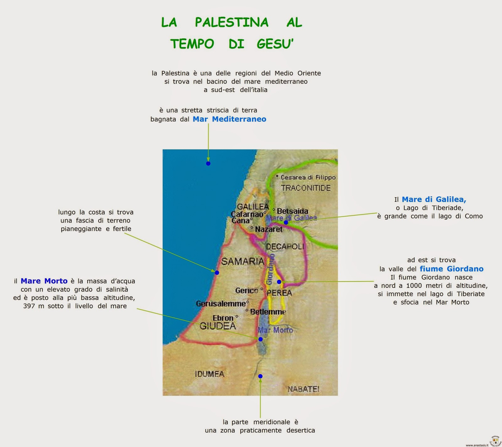 Amato Paradiso delle mappe: La Palestina al tempo di Gesù EB39