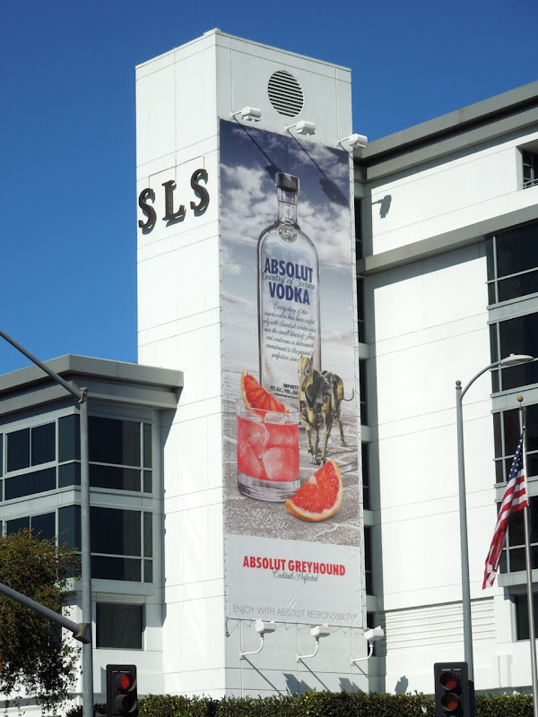 Absolut Greyhound Vodka billboard SLS Hotel LA