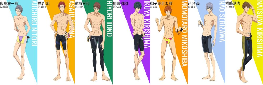 Free! Dive to the Future - personajes