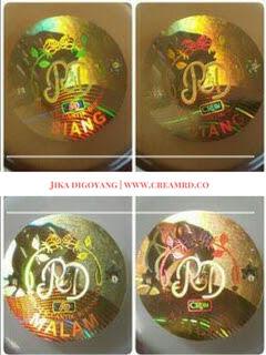 new hologram stiker cream rd original asli 100%