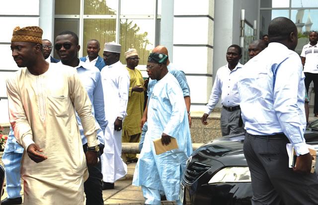 obasanjo attends pdp event abuja