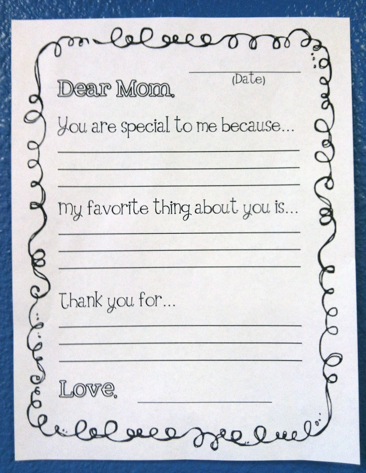Mothers Day Letter In Spanish