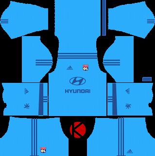 Olympique Lyonnais Kits 2017/2018 - Dream League Soccer