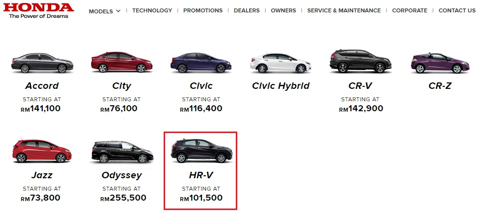 Snapshot Of Honda HR V Pricing And Specification For Future Reference Purpose As The Manufacturers Site Will Update From Time To It Is Good Keep