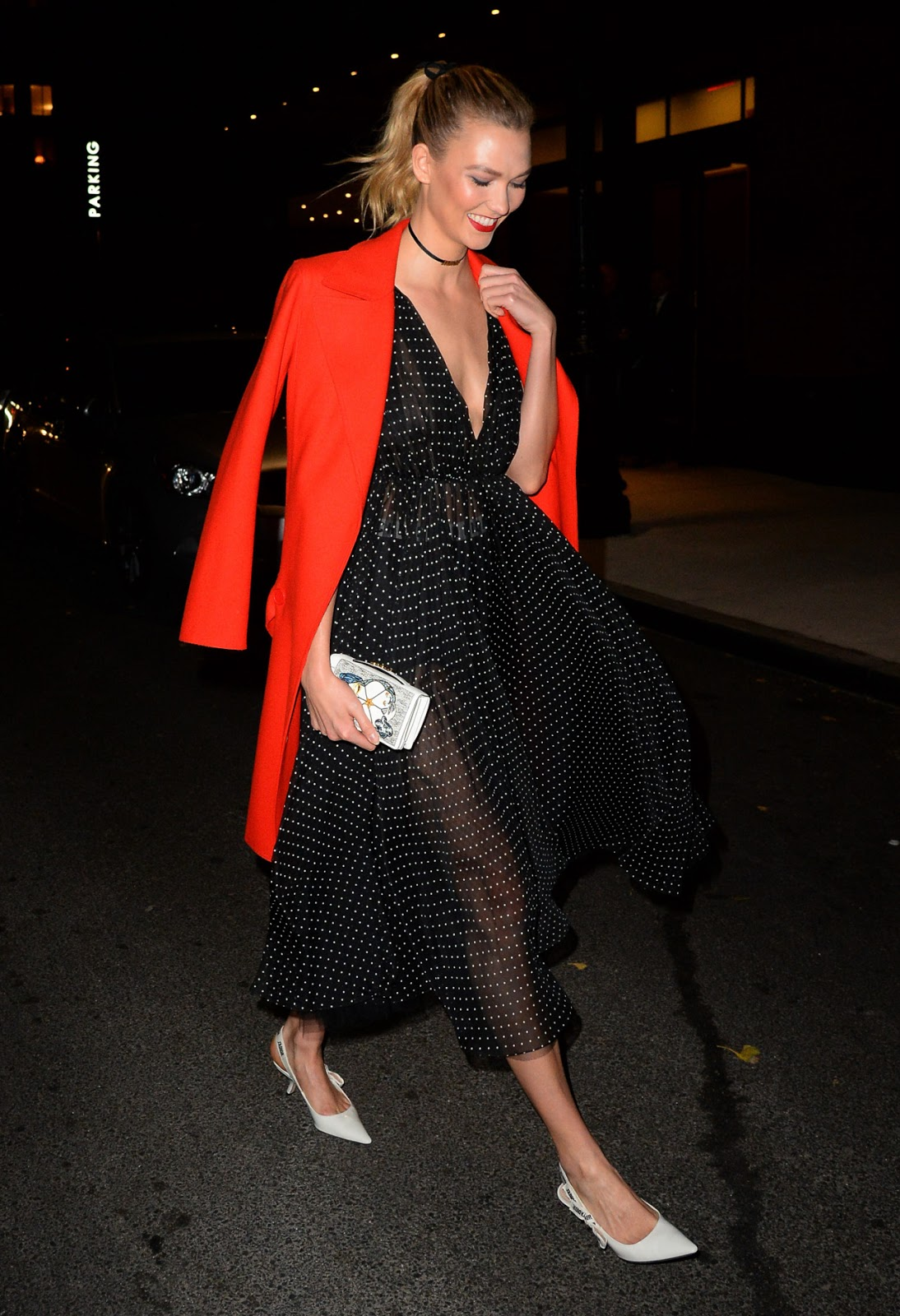 Karlie Kloss Steps Out in a Sheer Dress in NYC
