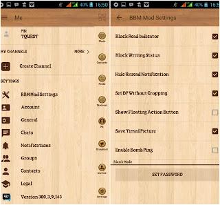 BBM Mod Wood Beta Versi 300.3.9.143 Apk