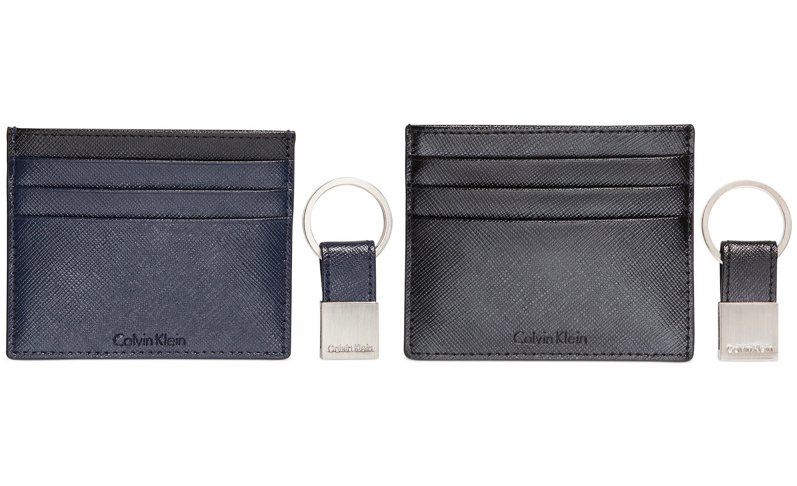 d2d4c111ecfc1 Head over to Macy s and get this Calvin Klein Saffiano Leather Two-Tone  Card Case   Key Fob on sale for  14.99 (Reg.  40). Sale ends 7 15 18.