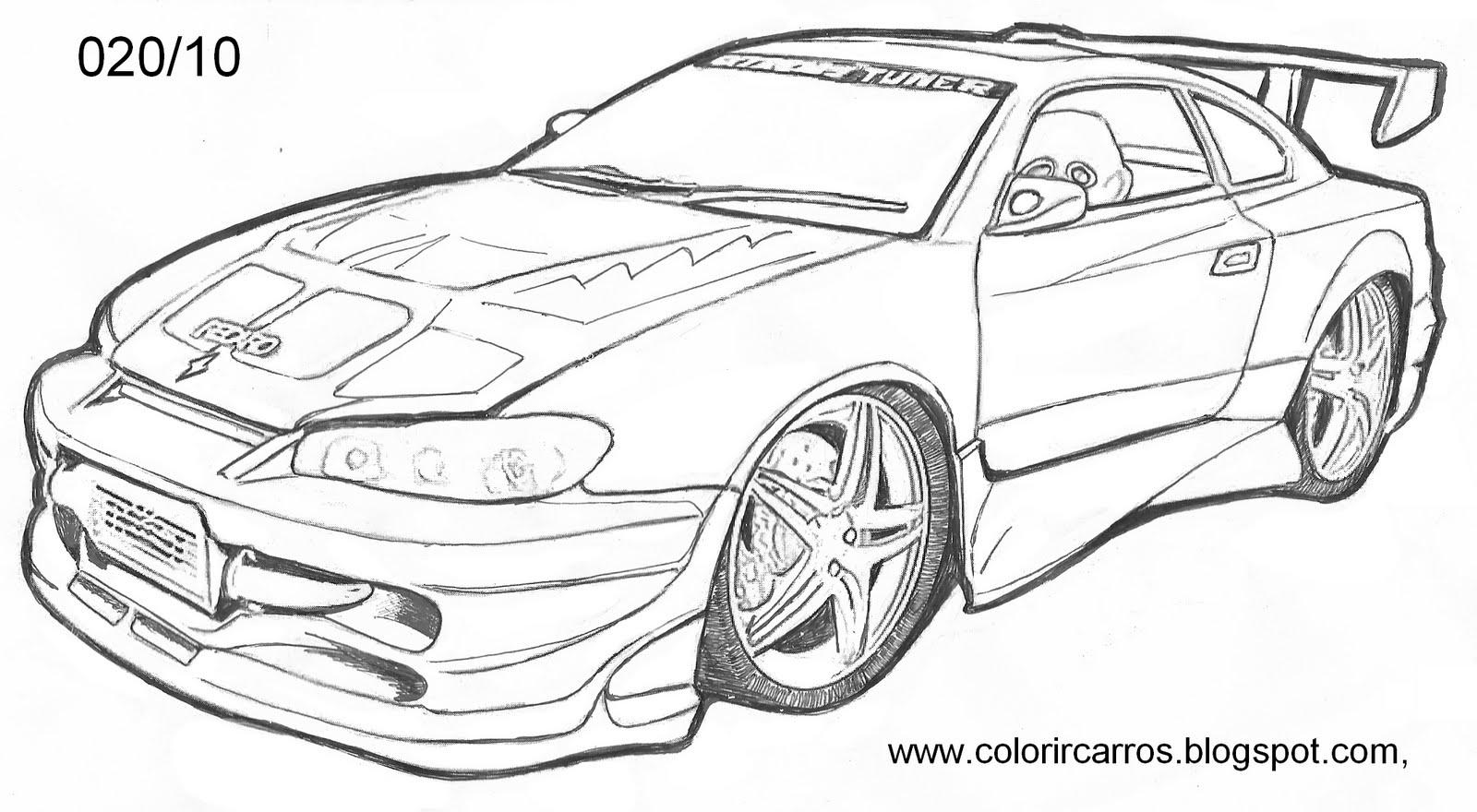 Colorindo E Desenhando Carro Para Colorir 4