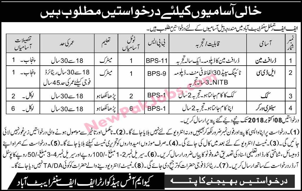 Jobs-in-FF-Regimental-Center-Abbottabad-september-2018