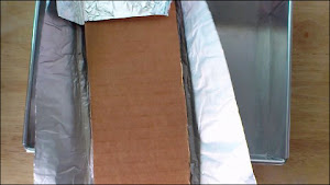 wrapping cardboard with aluminium foil