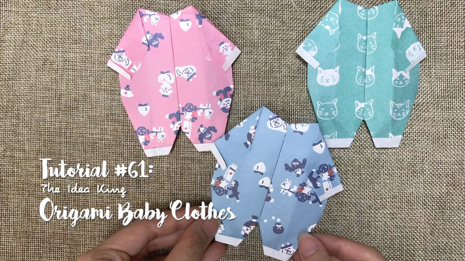 Tutorial 61 Origami Baby Clothes The Idea King
