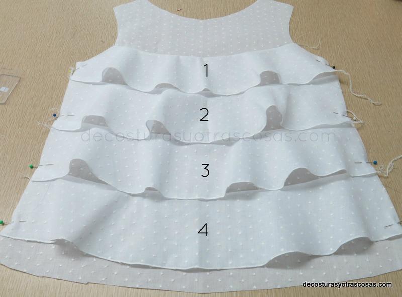 como hacer una blusa con volantes anchos