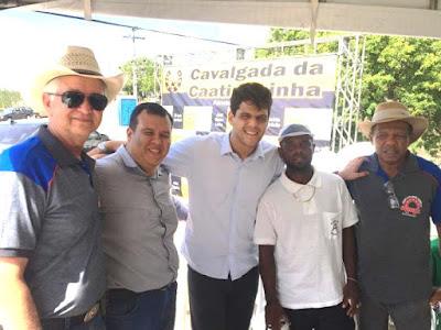 Deputado Rogério Andrade Filho participa da 20ª Cavalgada da Caatinguinha, em Santo Estevão
