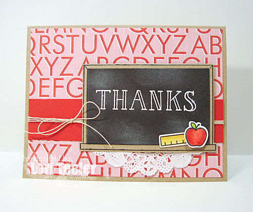 Thanks card-designed by Lori Tecler/Inking Aloud-stamps and dies from Lawn Fawn