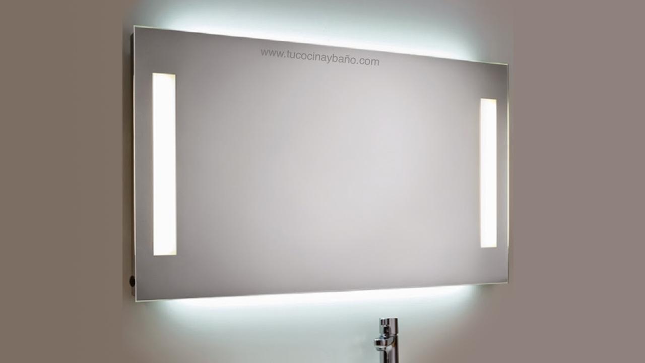 espejo baño LED maquillaje