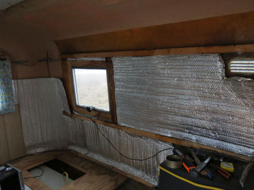 trailer wall stripped