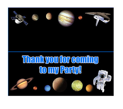 Space Party Free Printable Mini Kit.
