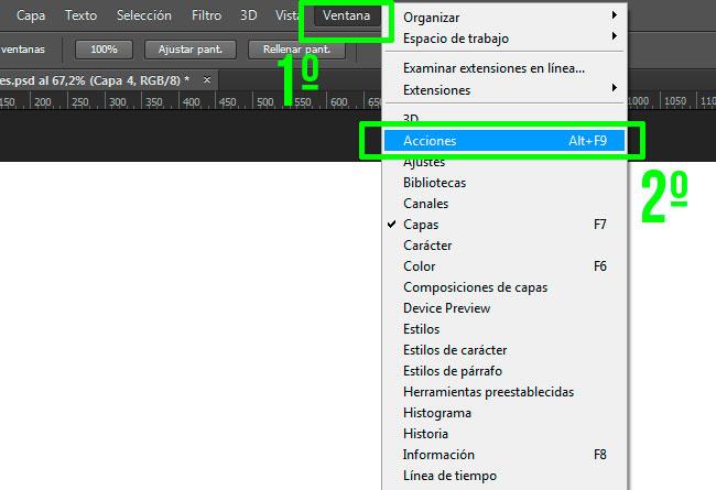 Cómo Cargar Acciones en Adobe Photoshop by Saltaalavista Blog Paso 01