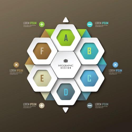 25 Infografik Gaya Moderen dan Keren Vector Gratis