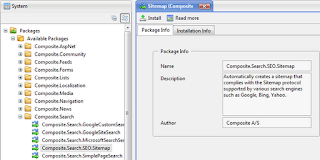 Установить пакет SEO Sitemap