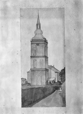 Johanneskerk in Heerde, tekening van Rijksmonumenten