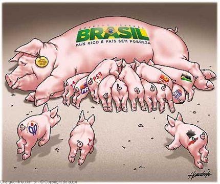 Resultado de imagem para brasil acomodado charges