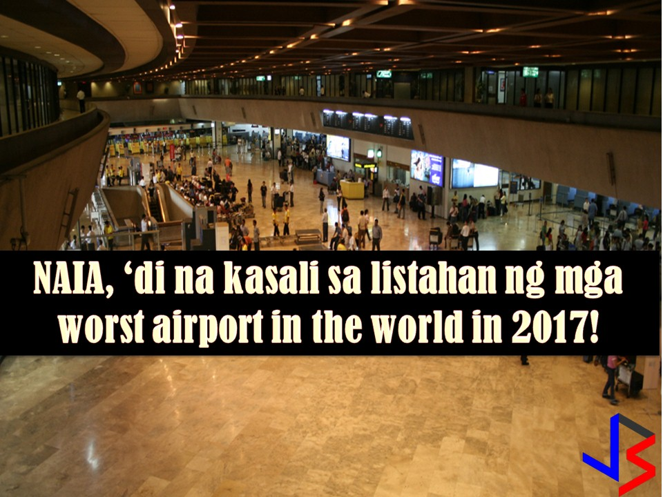 Finally, the Ninoy Aquino International Airport (NAIA) is out on the list of worst airport in the world.  This is according to the result of the latest survey of sleeping in airport.net., a travel website that conducts an annual survey of travelers to rate airport worldwide base on their airport experience.