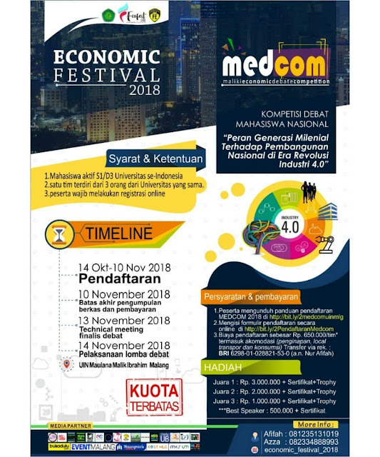 Contest Debat Nasional Economic Festival 2018
