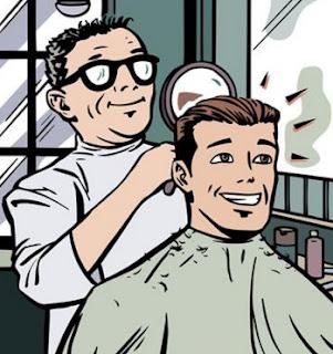 cek terakhir potong rambut dengan cermin