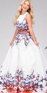 Vestido floral de linea A con recortes en la espalda para fiesta 2017