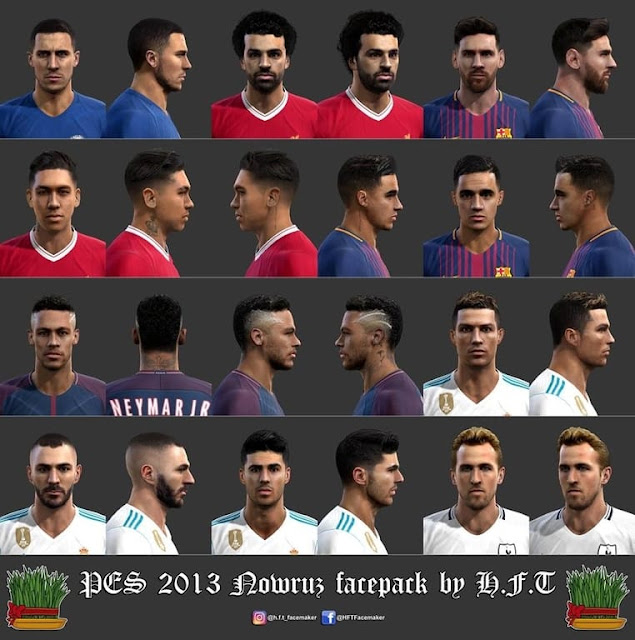 PES 2013 Nowruz Facepack by H.F.T