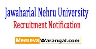 JNU (Jawaharlal Nehru University) Recruitment Notification 2017