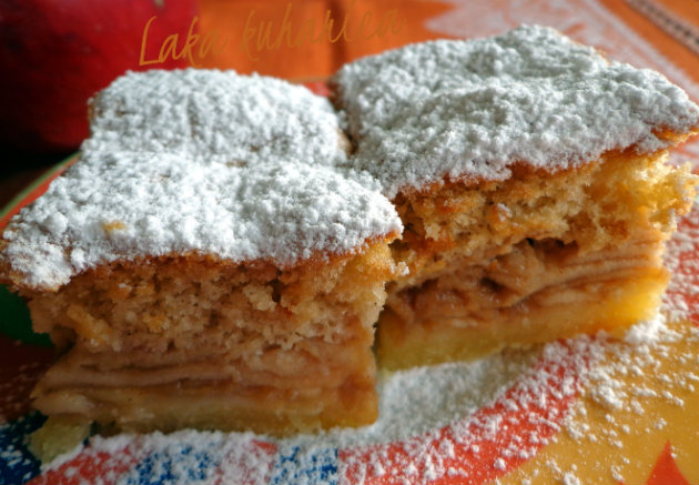Delicious Croatian apple pie by Laka kuharica: scrumptious apple cake is the Croatian version of an apple pie.