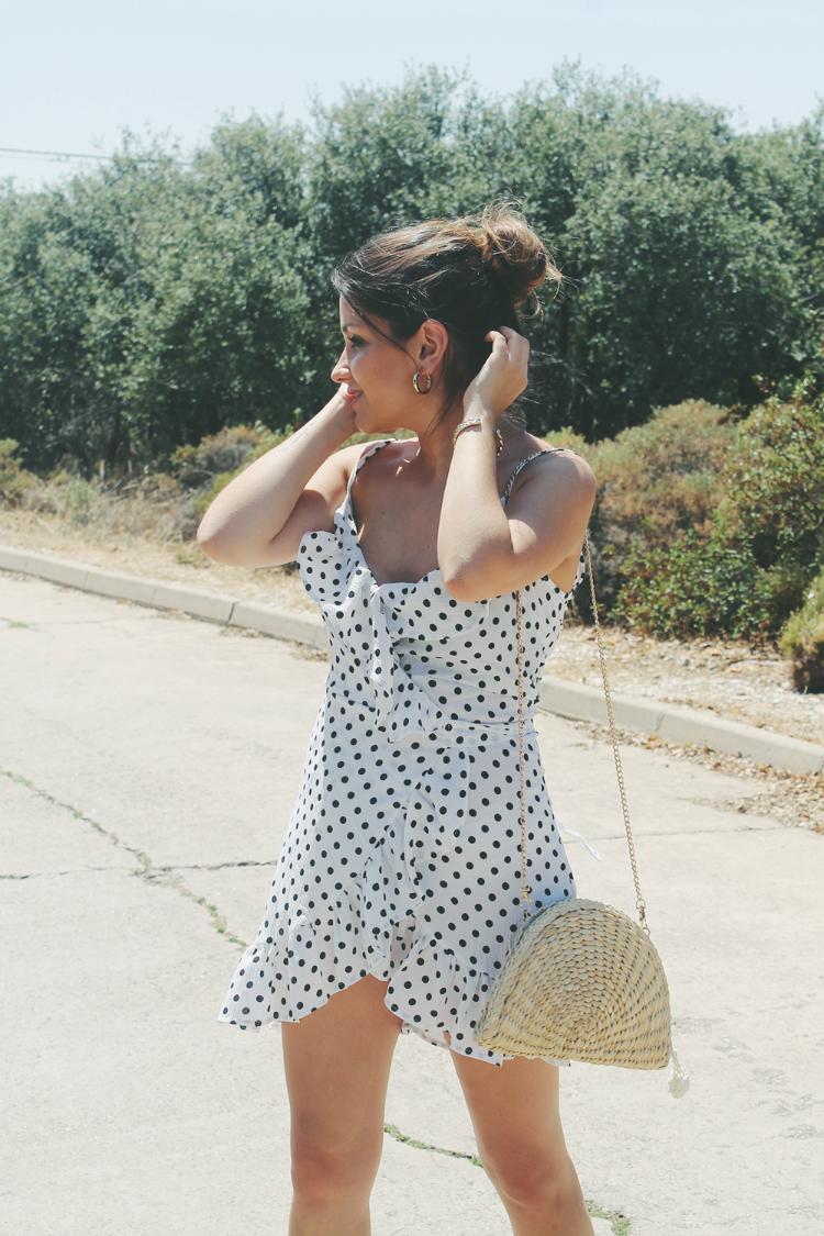 vestido de lunares blog de moda