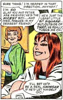 Amazing Spider-Man #45, John Romita, MJ sits talking to her aunt Anna Watson abot Peter Parker