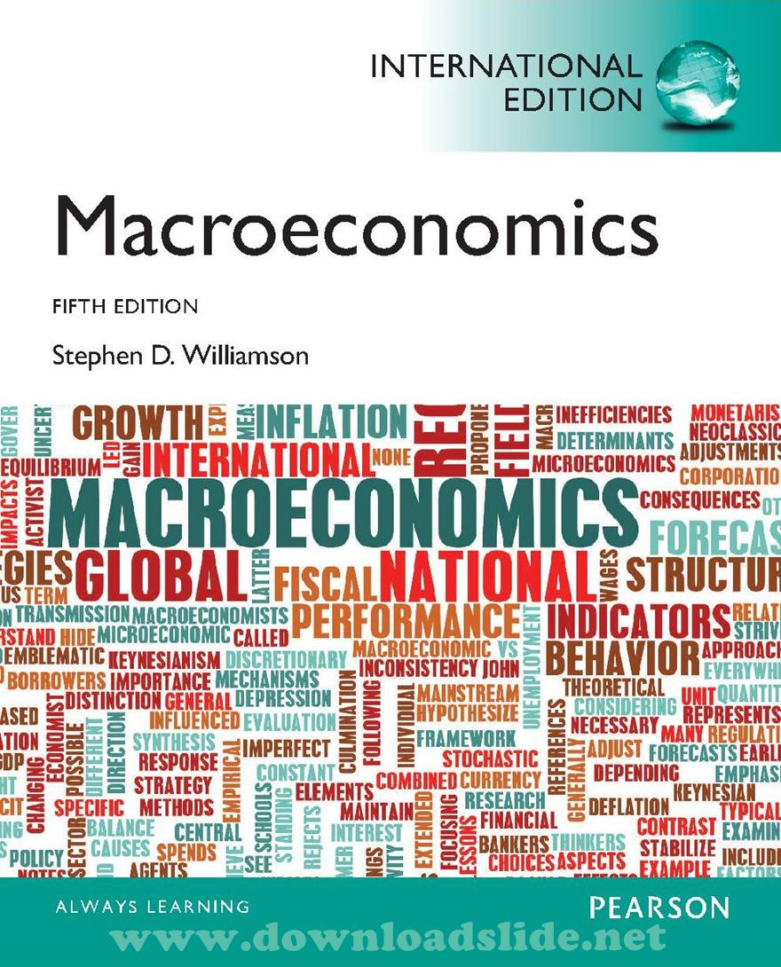 Ebook Macroeconomics 5th Edition by Williamson (International Edition).  EBOOK / SOLUTION MANUAL ...