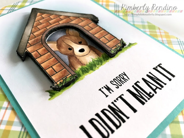whimsy stamps | doghouse | in the doghouse | sorry | handmade card | kimpletekreativity.blogspot.com