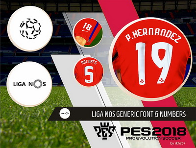 PES 2018 Liga NOS Generic Font and Numbers PC by rkh257