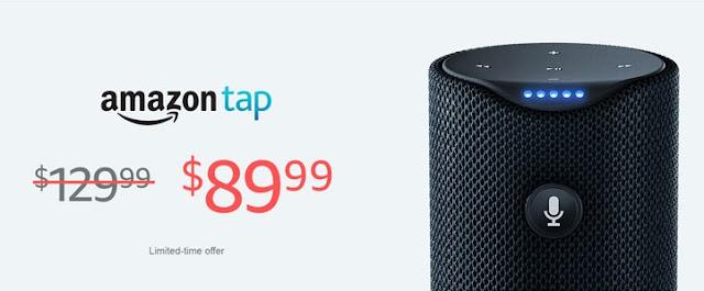 Amazon Tap Alexa-Enabled Portable Bluetooth Speaker $90 (reg $130)