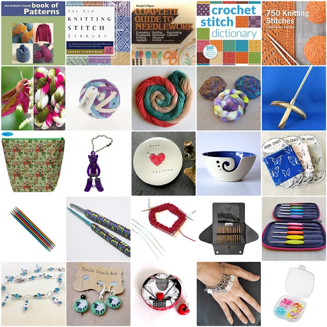 25 gift ideas for knitters, crocheters, spinners and yarn lovers