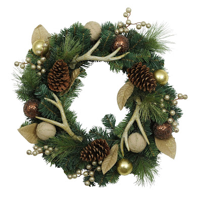 http://www.kirklands.com/product/Metallic-Antler-Wreath/192533.uts