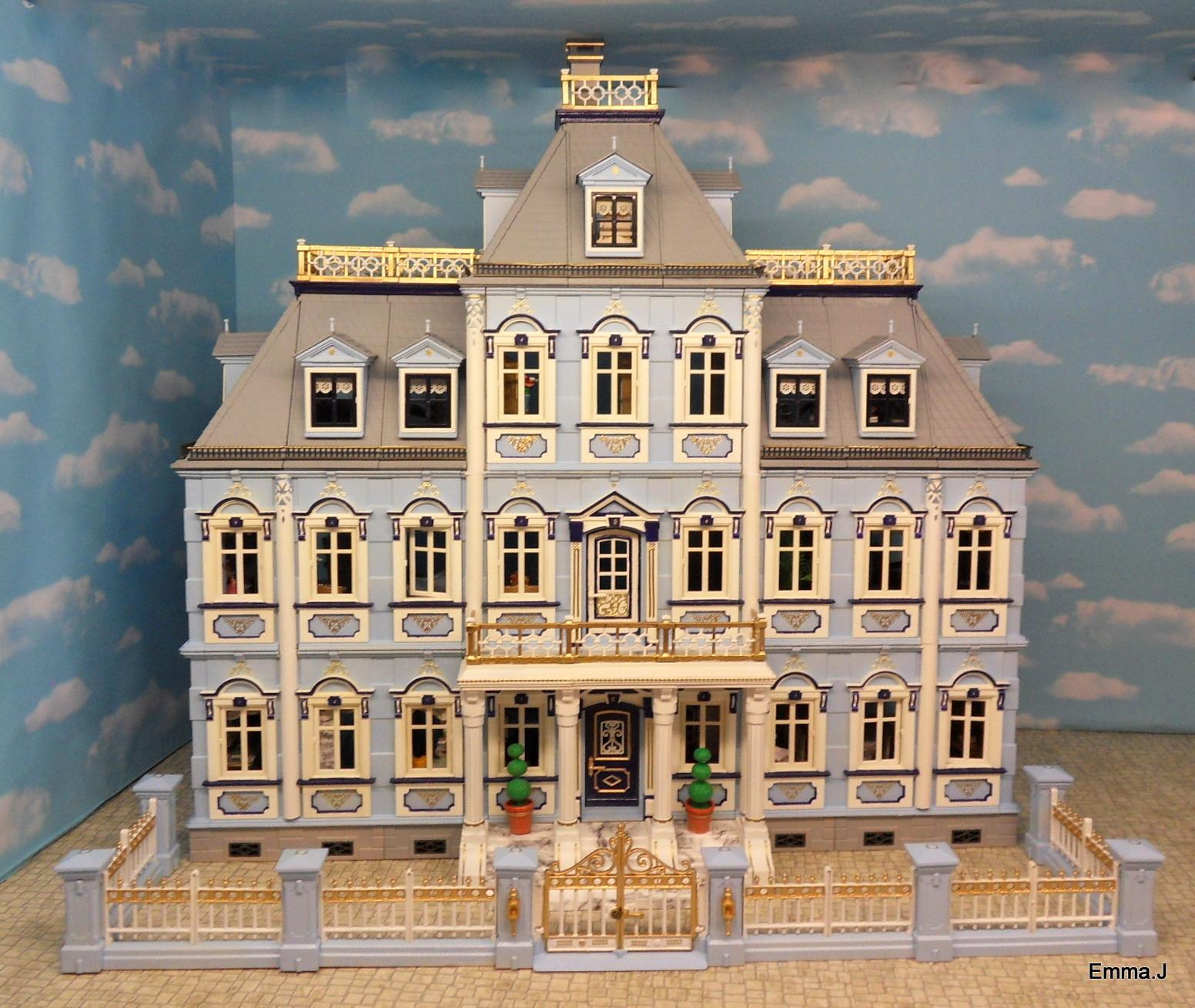 Blue mansion emma j 39 s playmobil for Mansion de playmobil