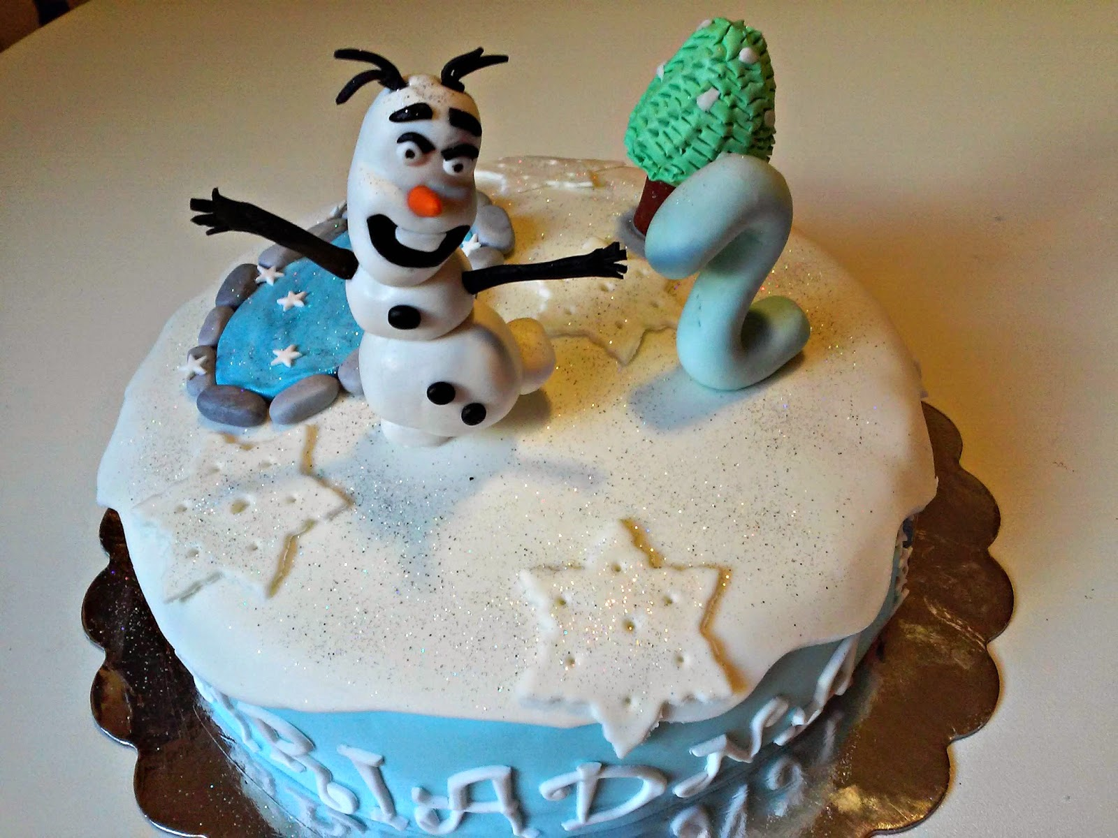 tarta Frozen de fondant