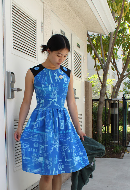 Clone Wars dress made from kids' bed sheets