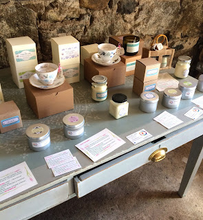 Purity Belle Candle Display in the Old Yard Castledermot